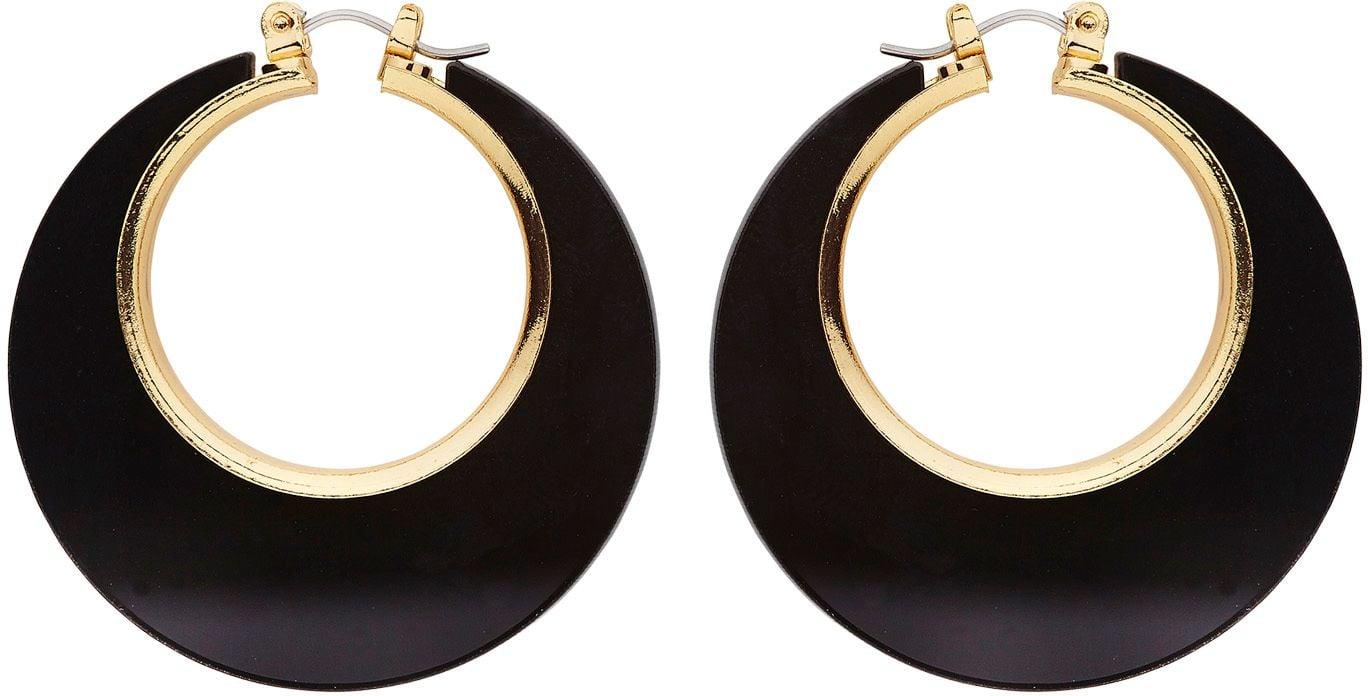 Zwarte disco oorbellen