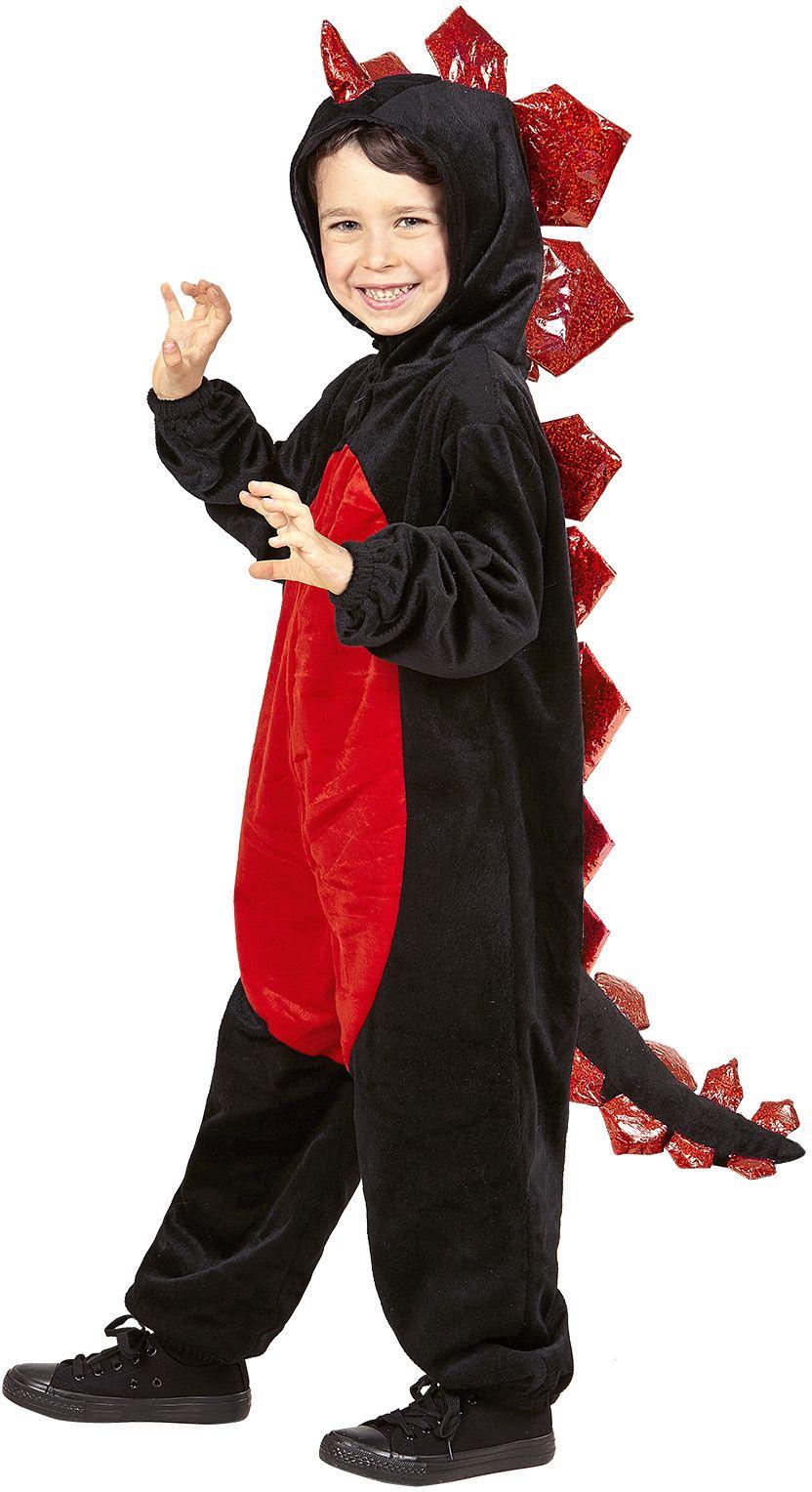 Zwarte draken onesie kind