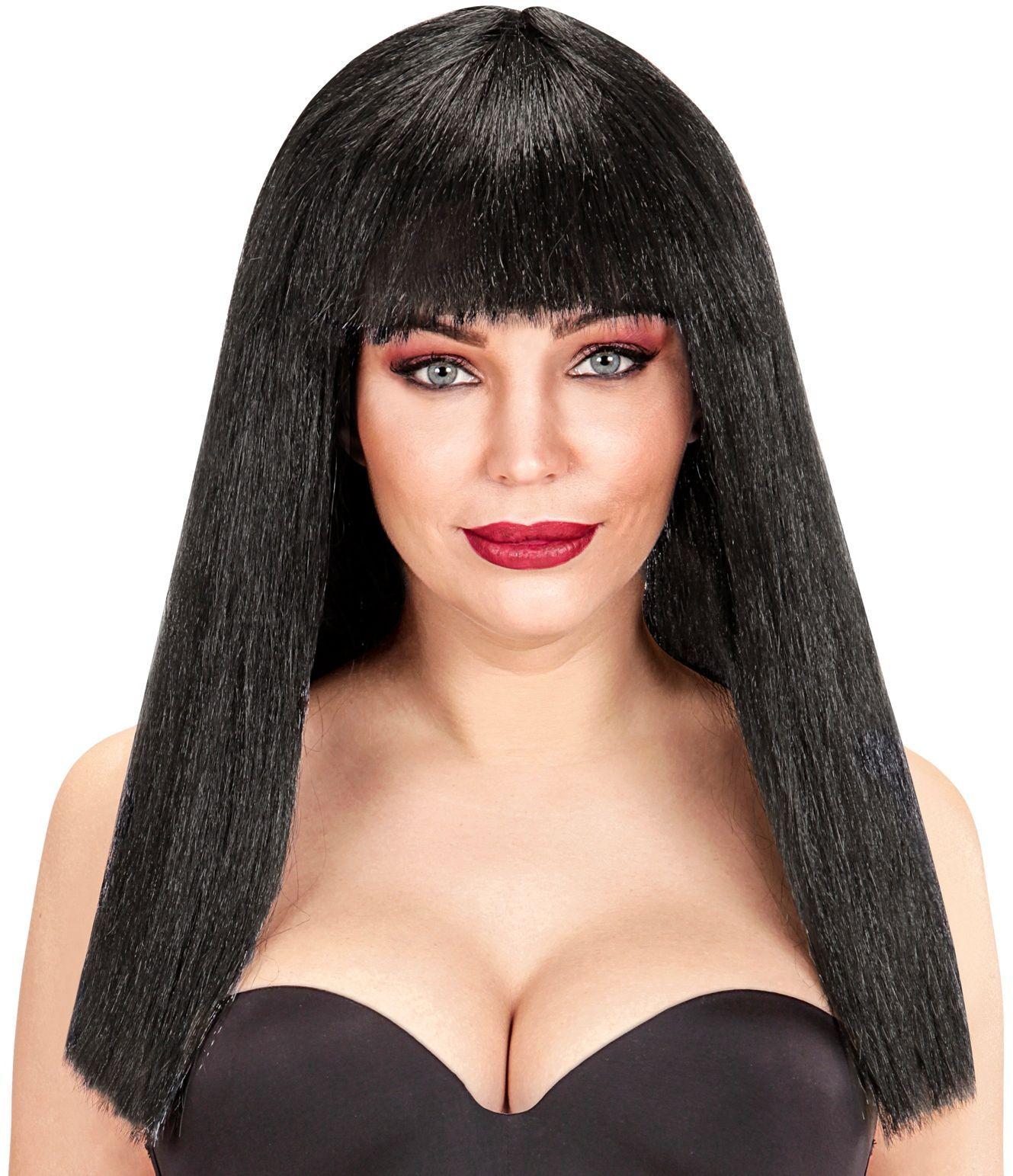 Zwarte Fanny pruik