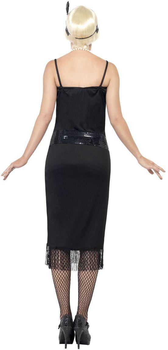 Zwarte flapper jazz jurk