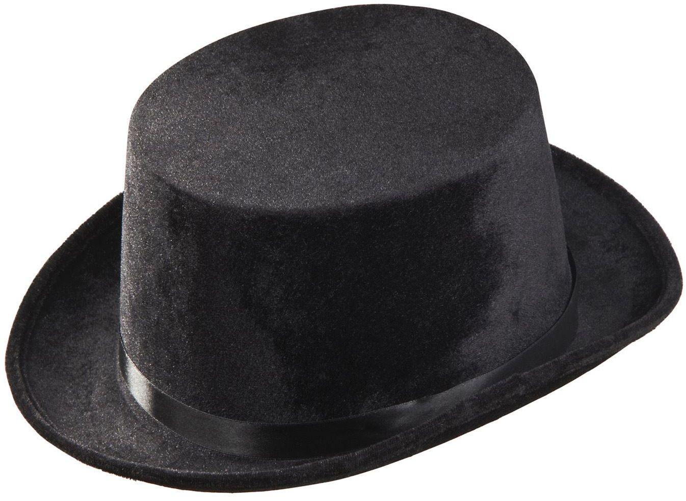 Zwarte fluwelen hoge hoed