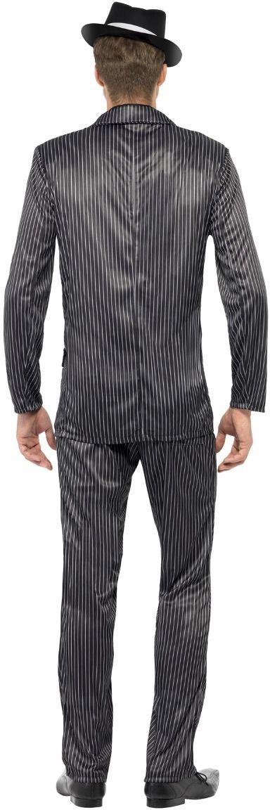 Zwarte gangster kostuum heren