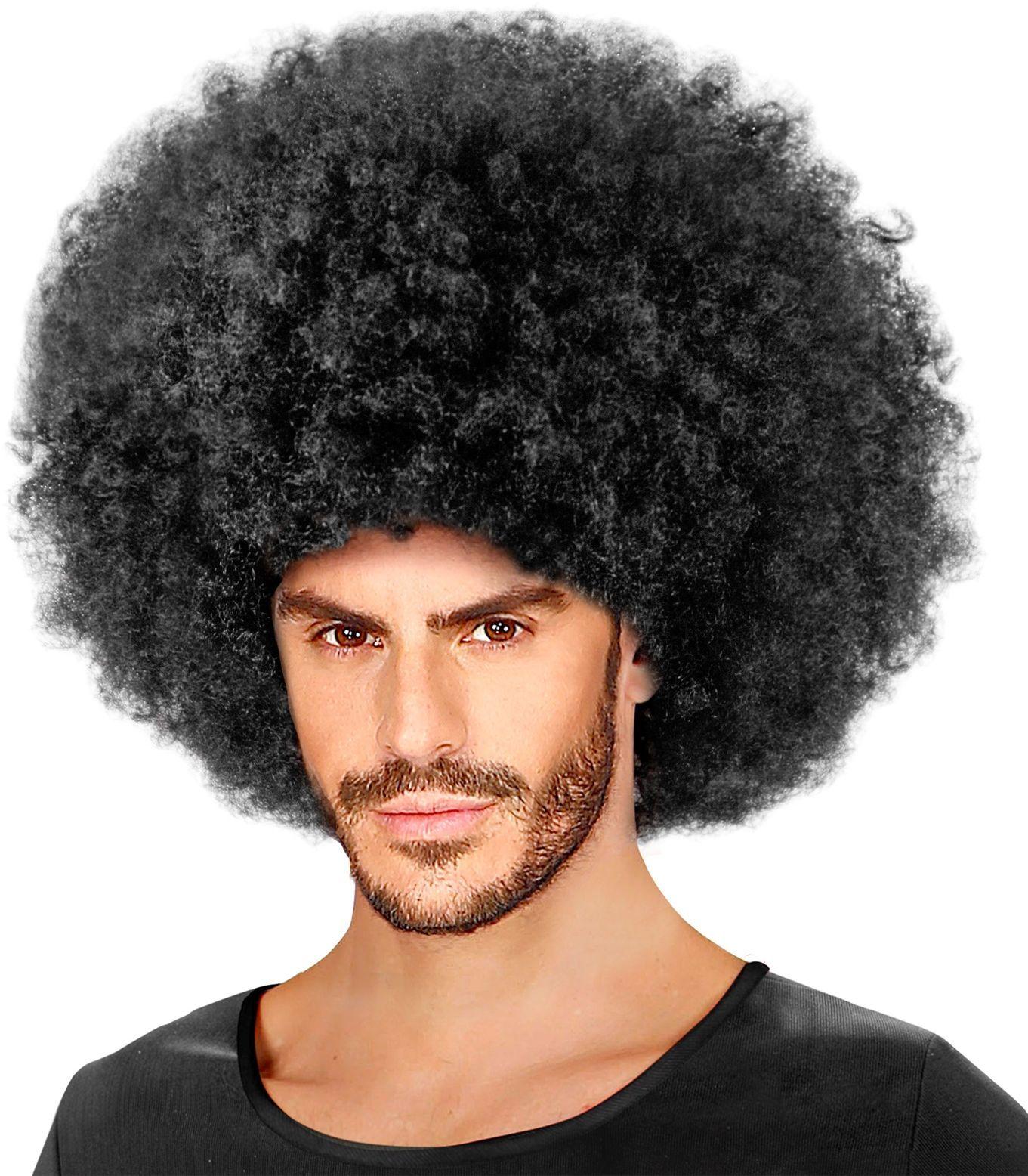 Zwarte gekrulde afro pruik