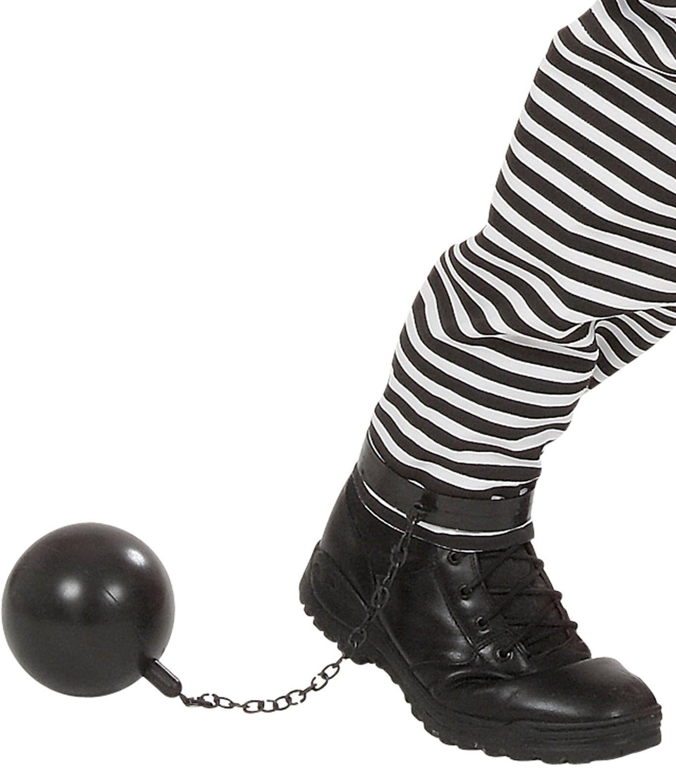 Zwarte Gevangene Enkelbal met ketting