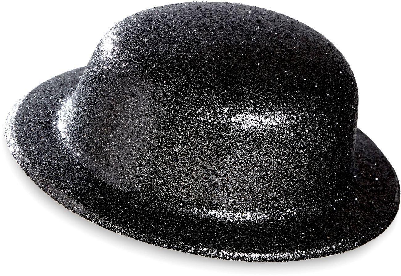 Zwarte glitter bolhoed