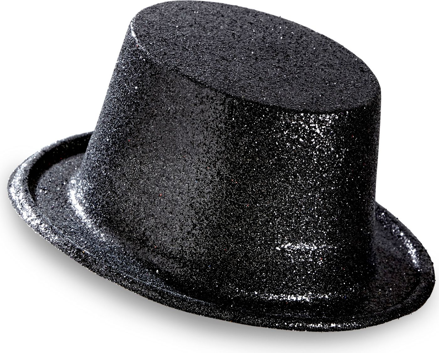Zwarte glitter hoge hoed