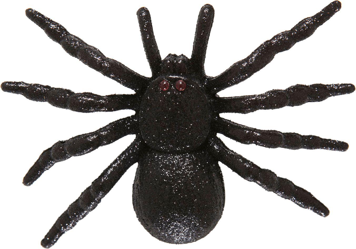 Zwarte glitter spin haarclip