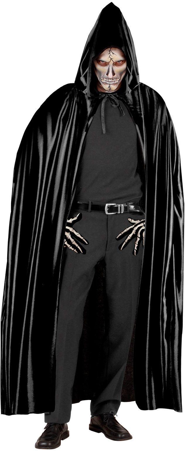Zwarte grim reaper cape met capuchon