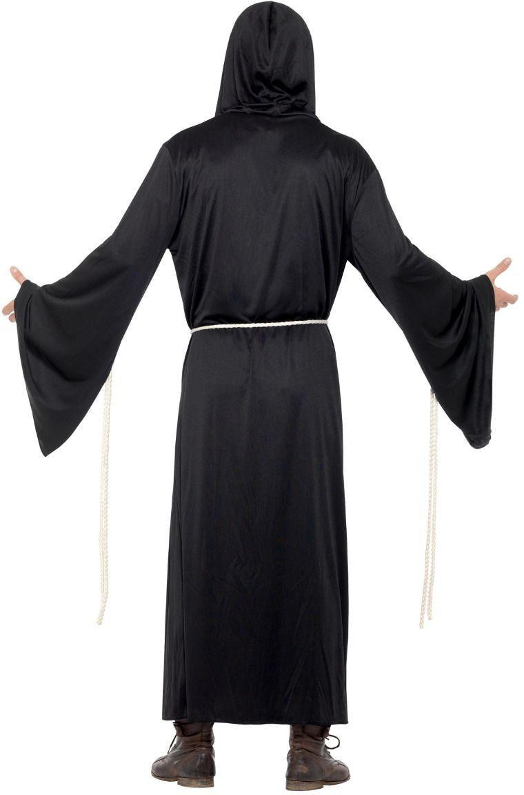 Zwarte grim reaper outfit heren
