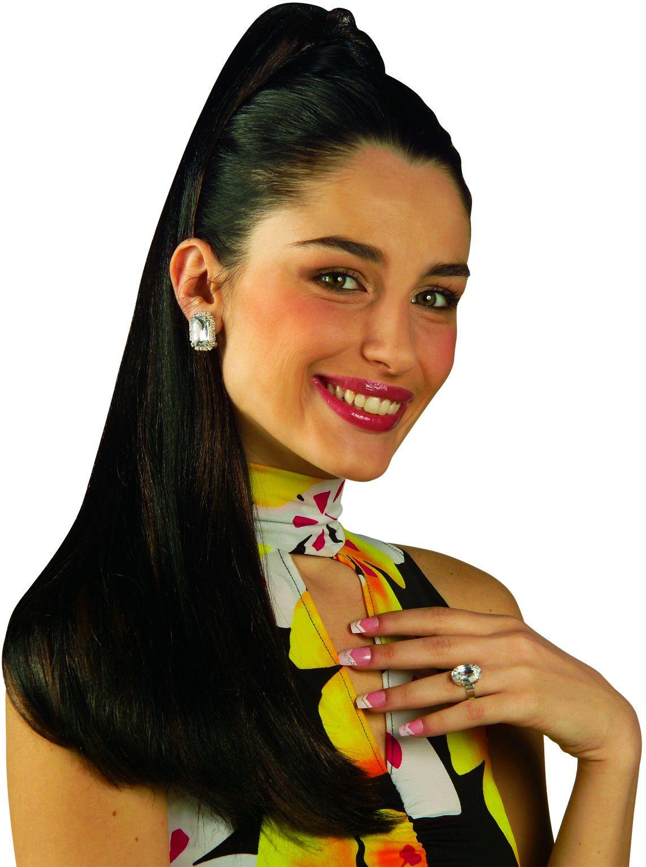 Zwarte haarextensie