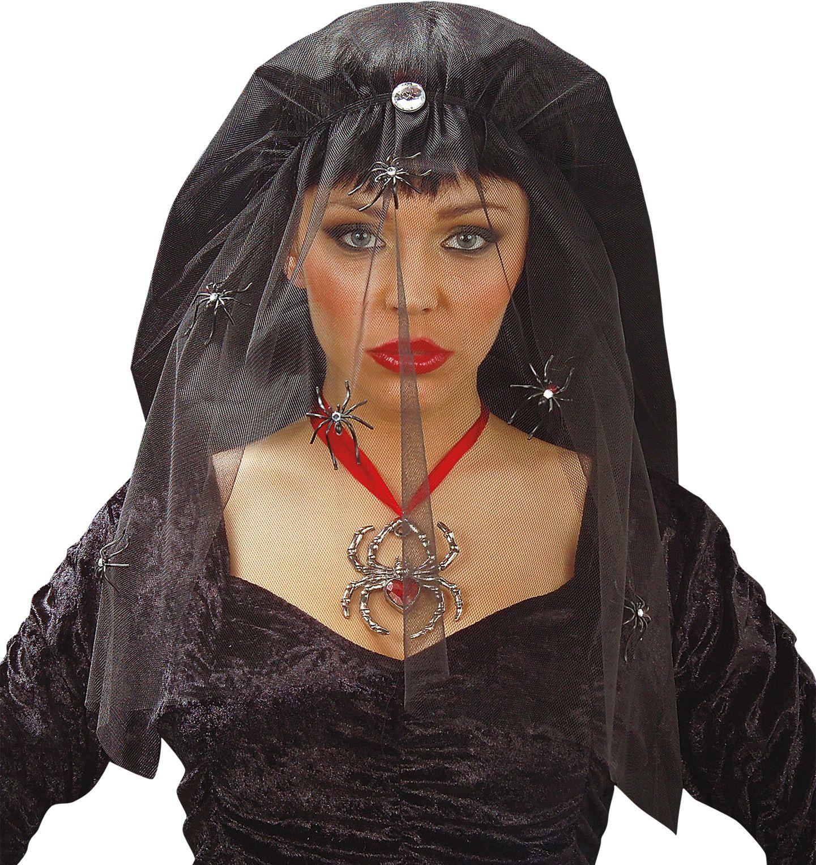 Zwarte halloween sluier