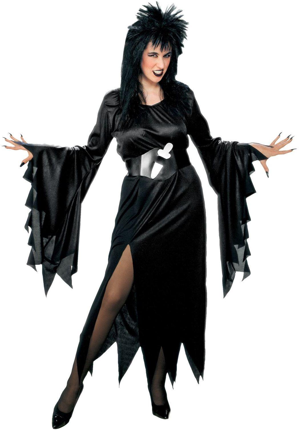 Zwarte heksen jurk