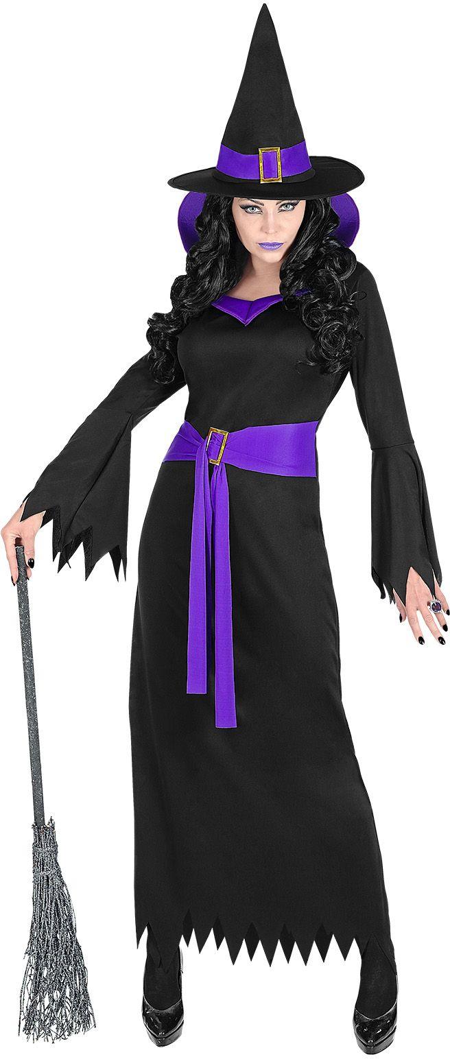 Zwarte heksen jurk dames