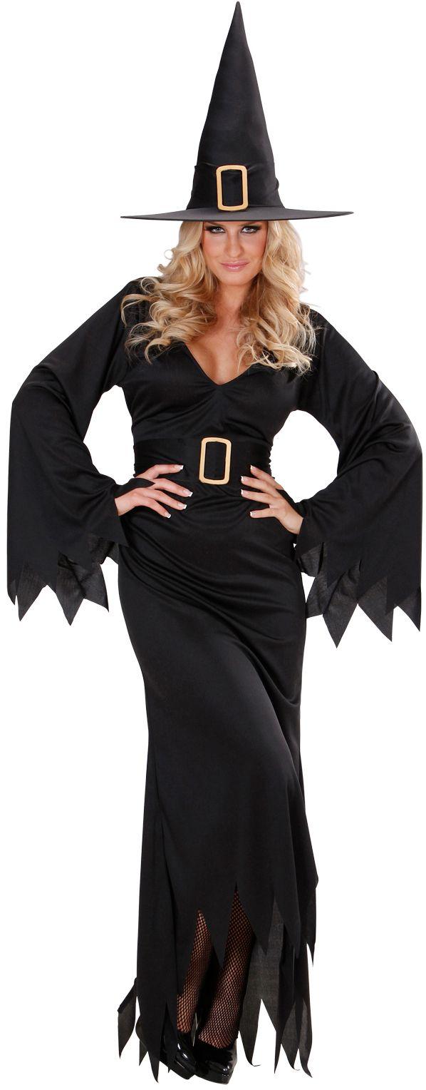 Zwarte heksen jurk kostuum
