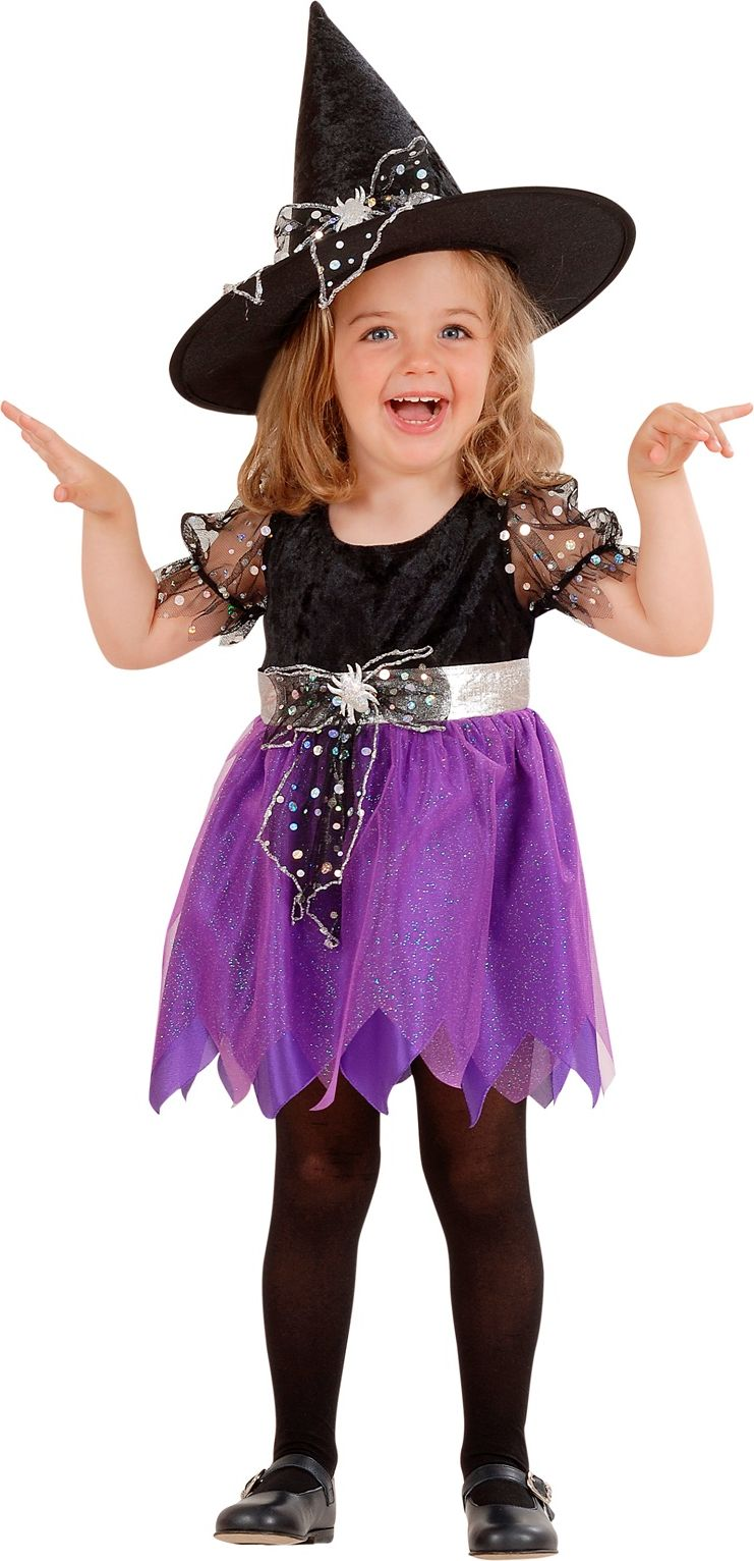 Zwarte heksen jurk meisjes