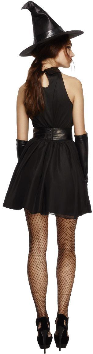 Zwarte heksen outfit voor dames
