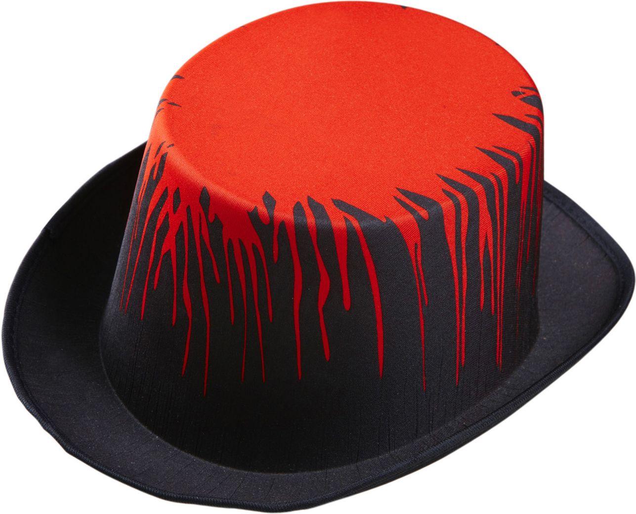 Zwarte hoge hoed met bloed