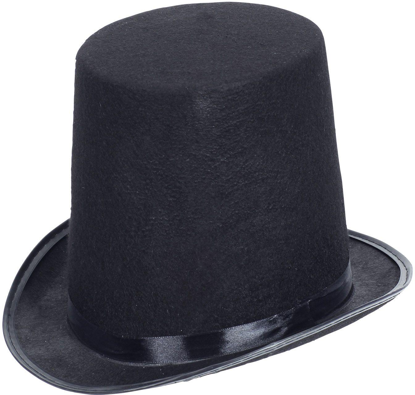 Zwarte hoge showmen hoed