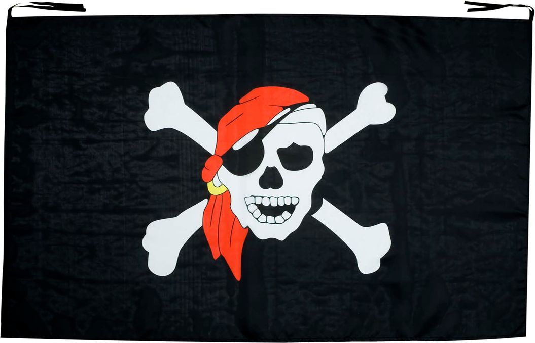 Zwarte Jolly Roger vlag