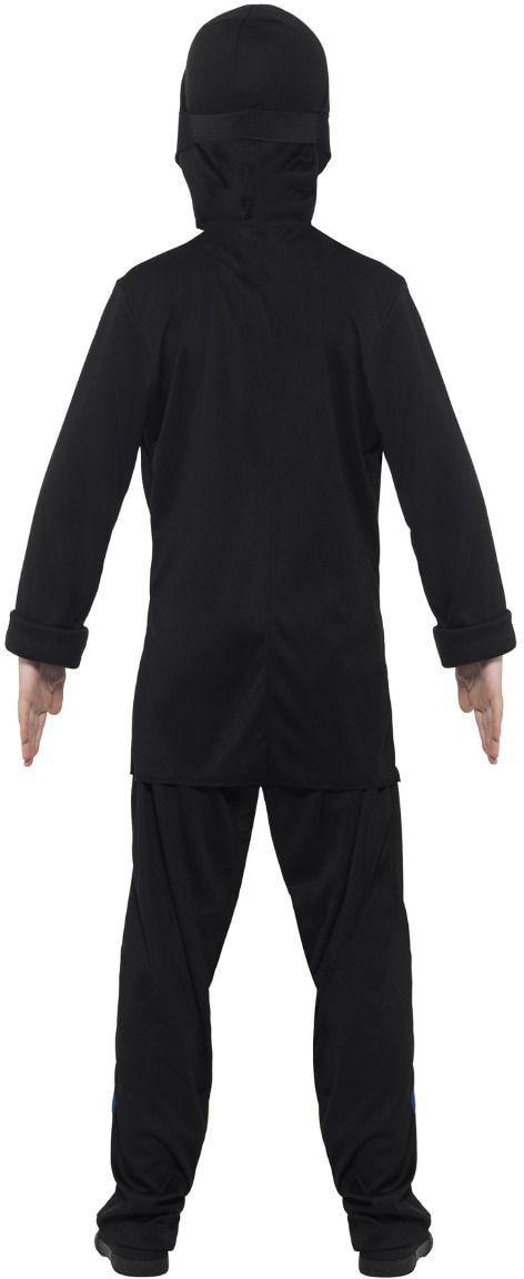 Zwarte jongens ninja outfit