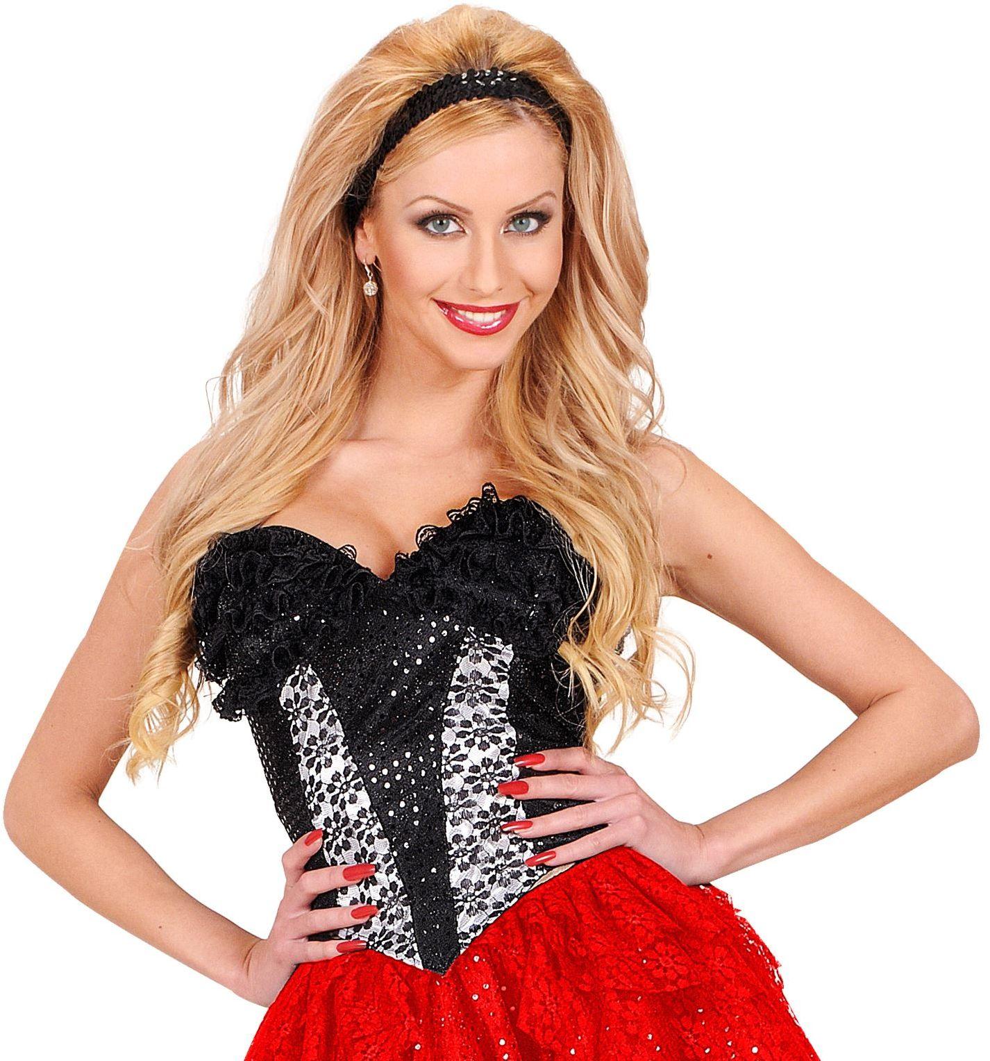 Zwarte kanten corset