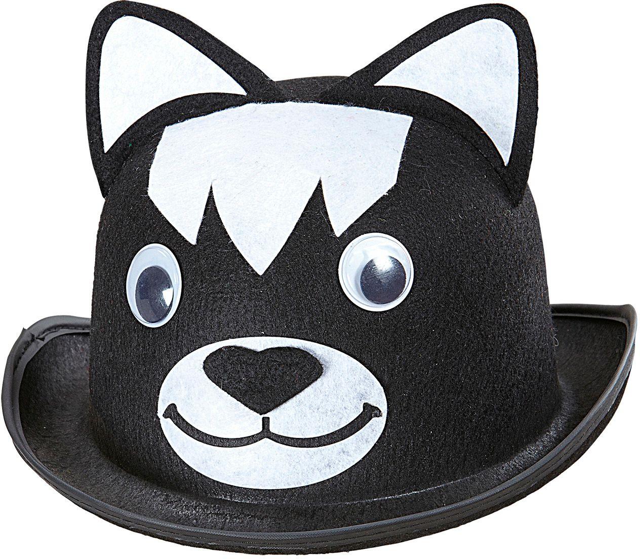 Zwarte katten bolhoed