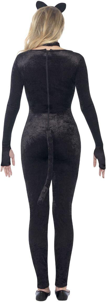 Zwarte katten catsuit