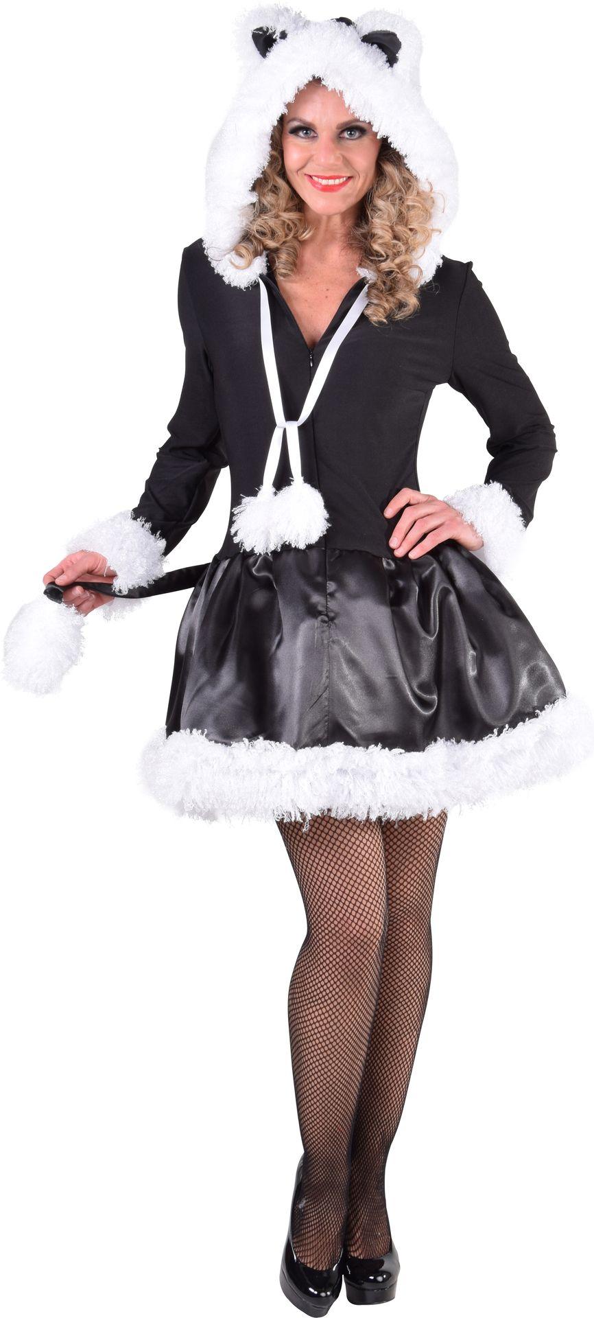 Zwarte katten jurk dames