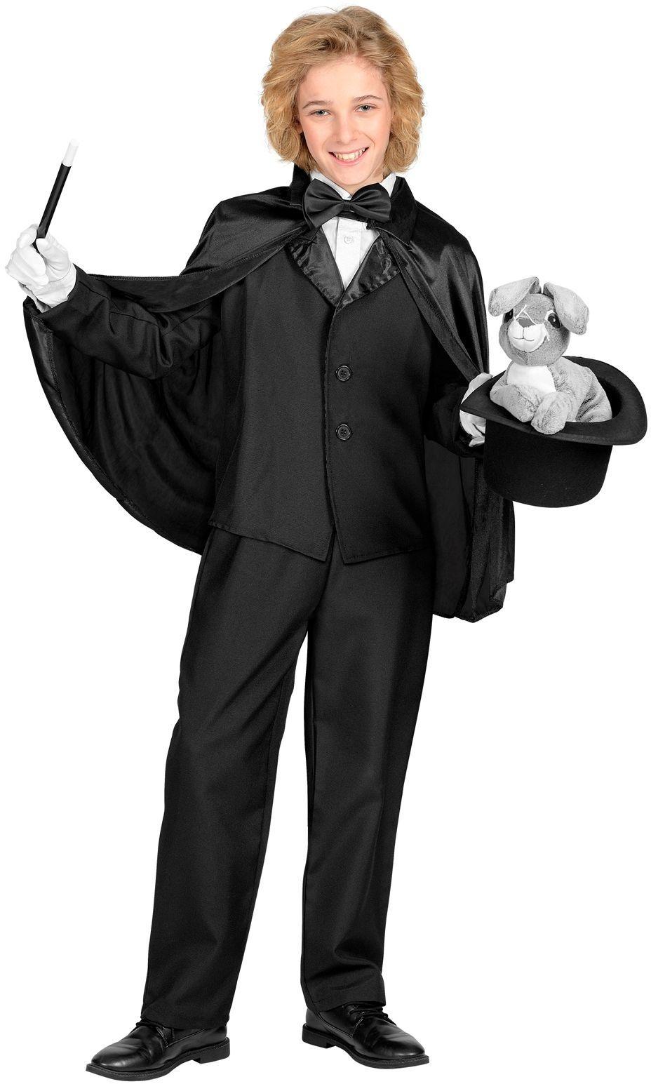 Zwarte kinder cape 60cm