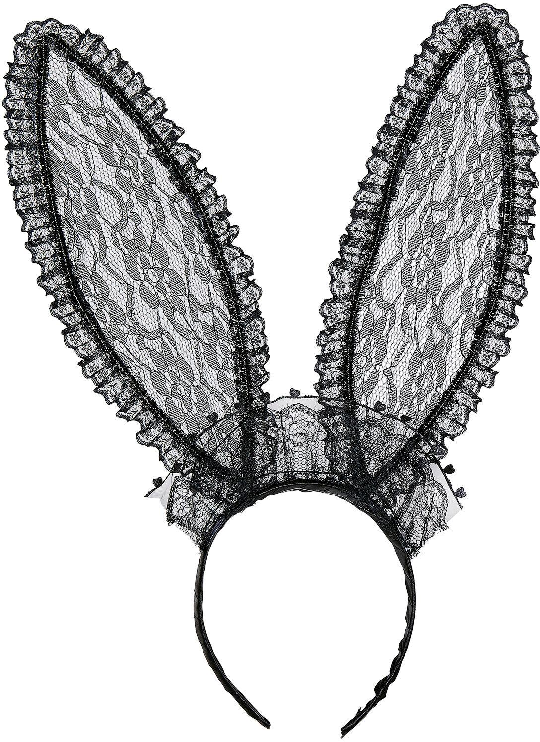 Zwarte lace konijn oren