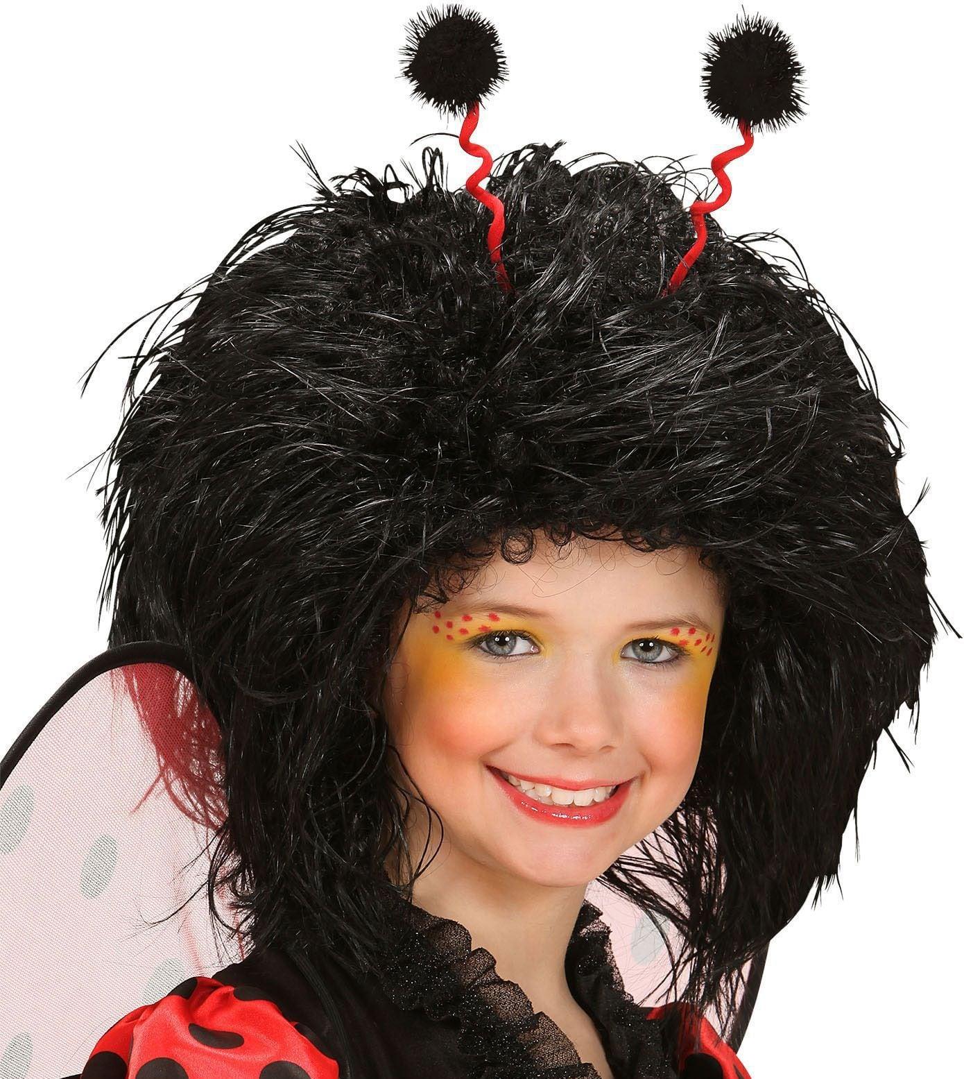 Zwarte lieveheersbeestje pruik