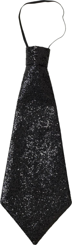 Zwarte lurex stropdas