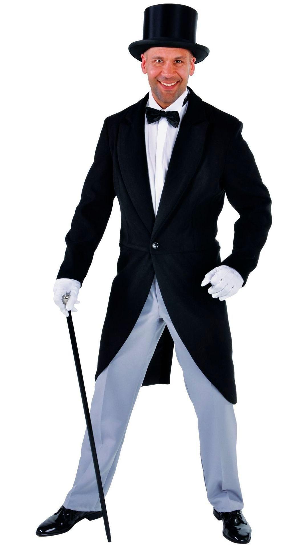 Zwarte luxe rokjas heren