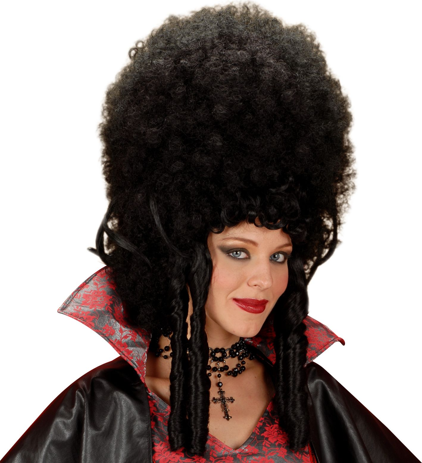 Zwarte Madame Bovary pruik