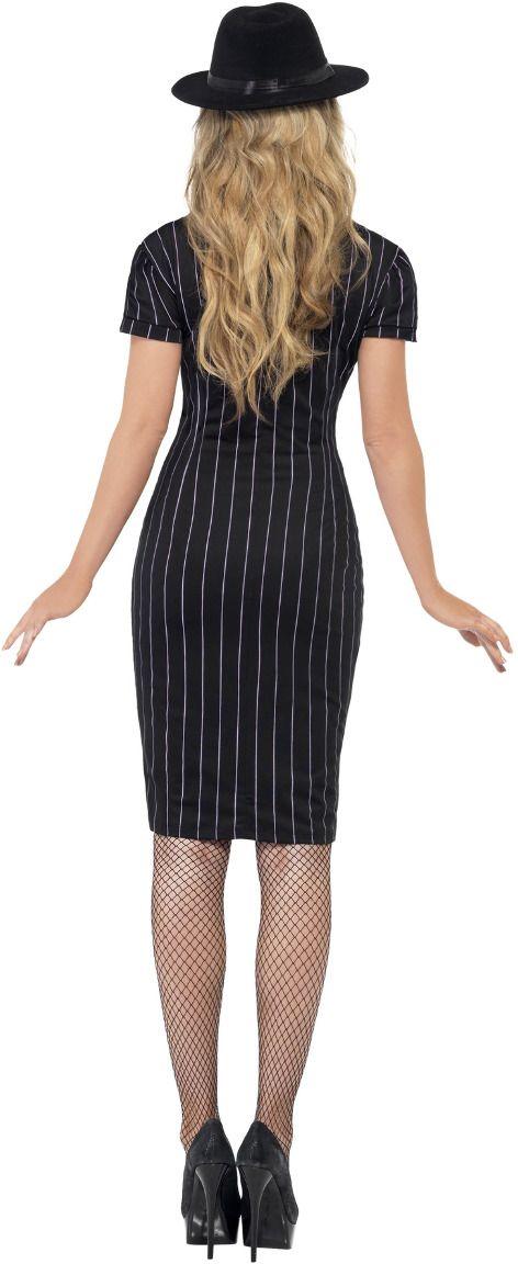 Zwarte maffia gangster jurk