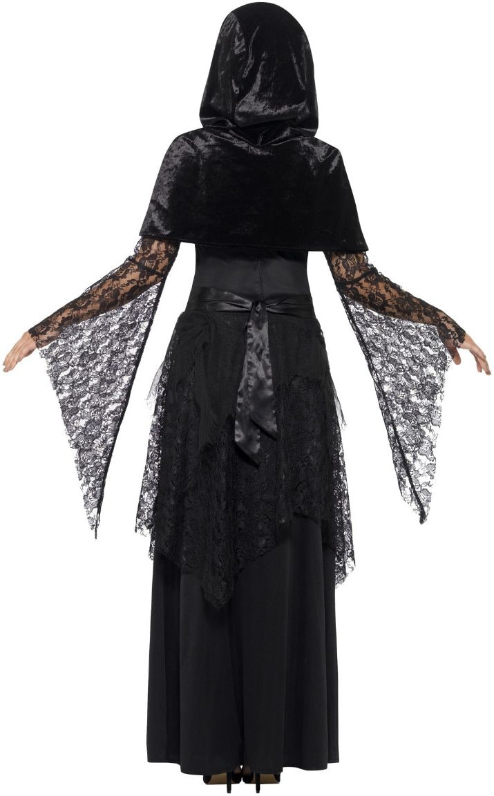 Zwarte magische heks outfit