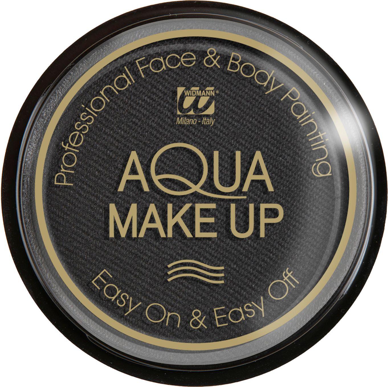 Zwarte make-up op waterbasis