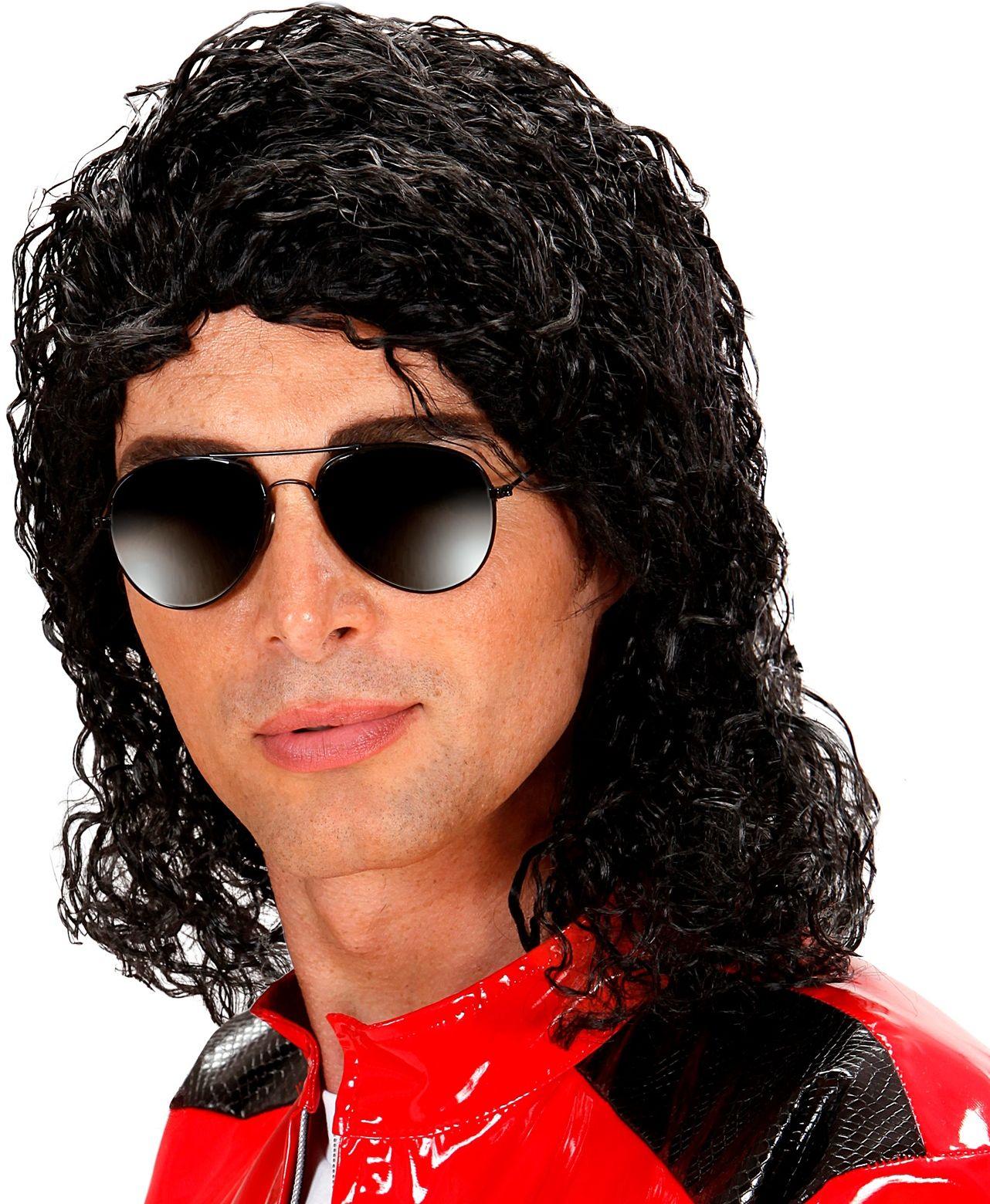 Zwarte Michael Jackson pruik
