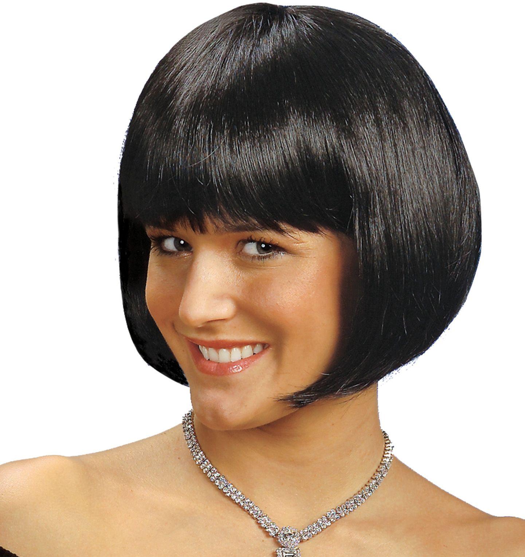 Zwarte Michelle pruik