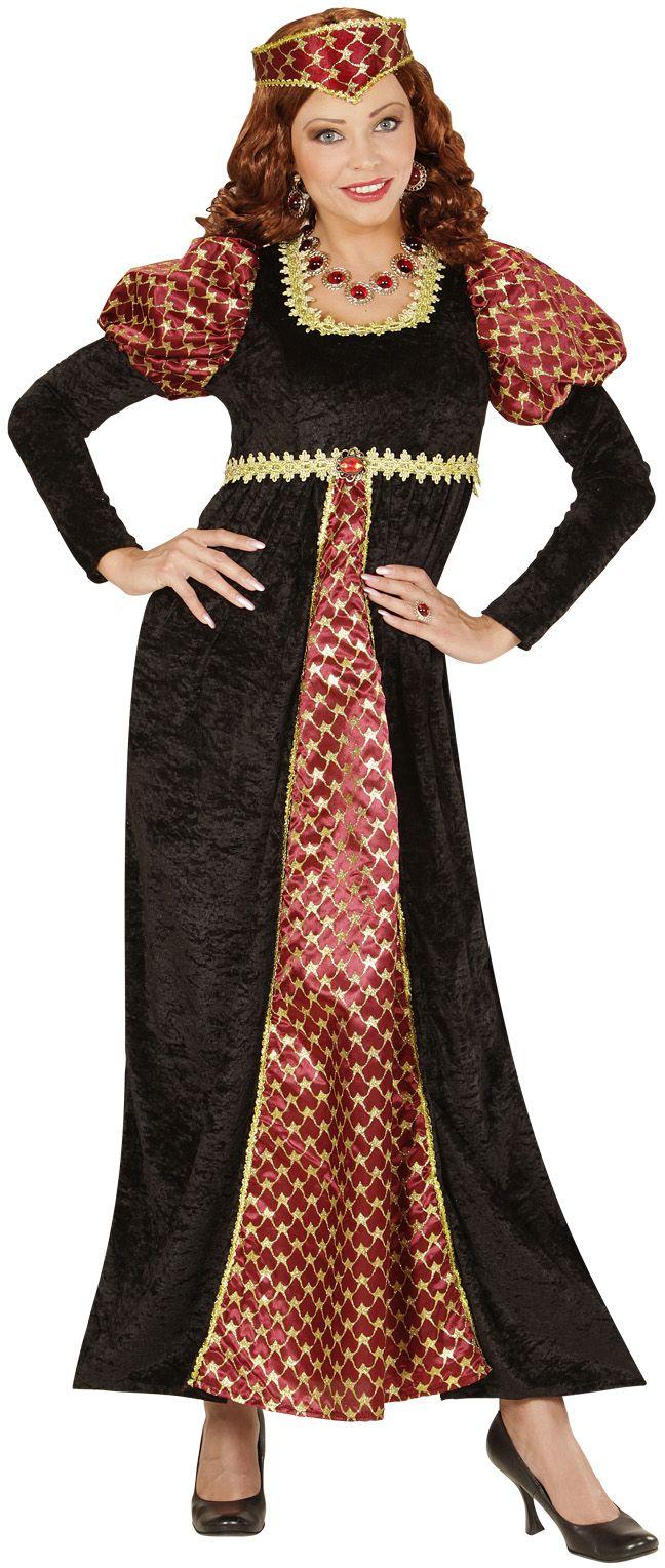 Zwarte middeleeuwse jurk