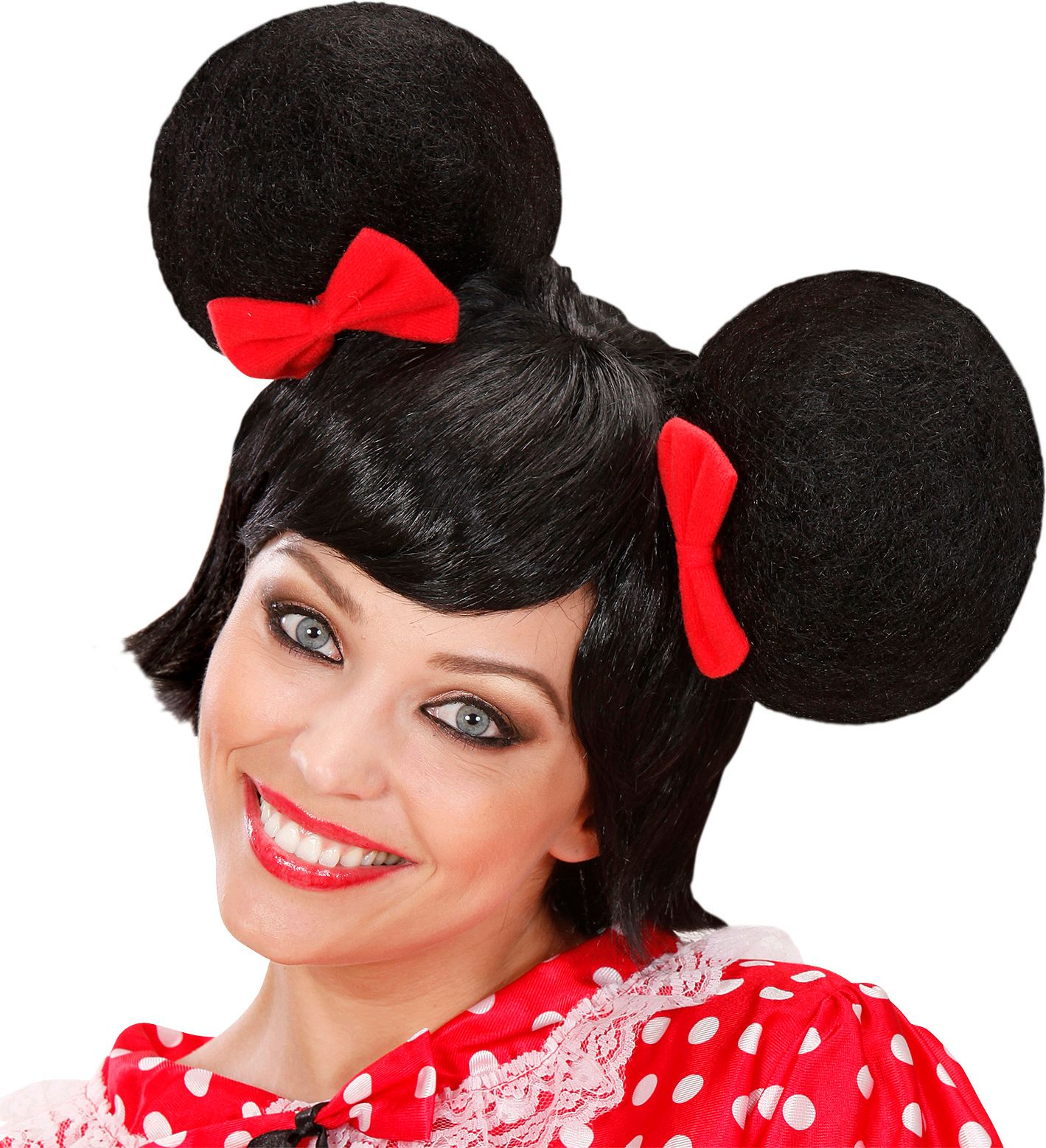 Zwarte Minnie Mouse pruik