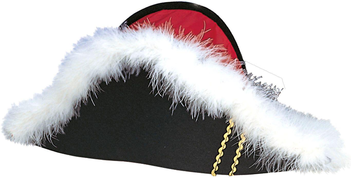 Zwarte Napoleon bicorn hoed
