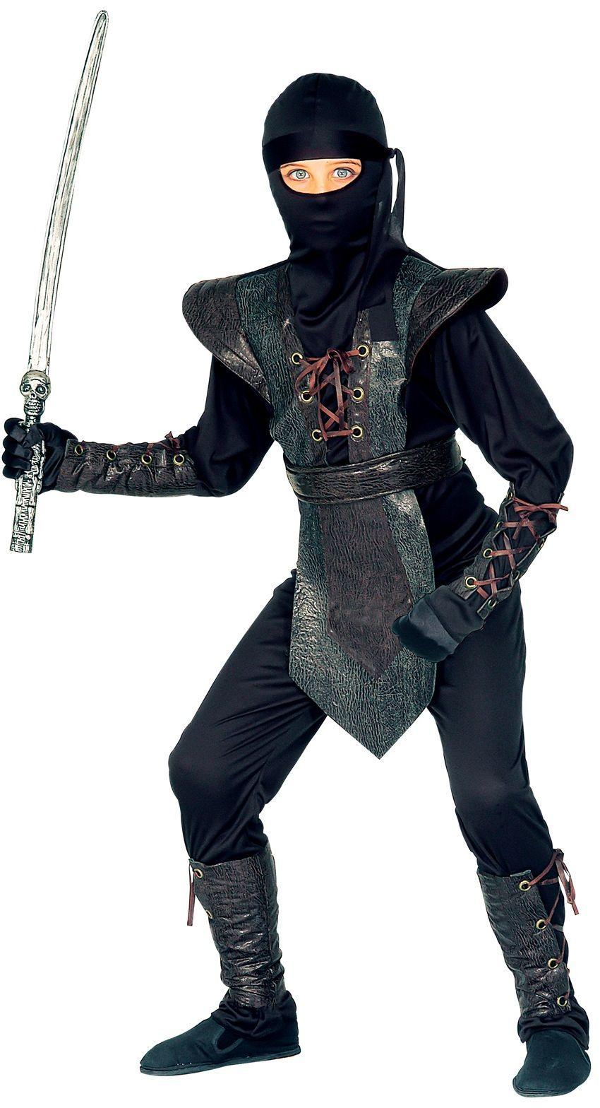 Zwarte ninja kostuum