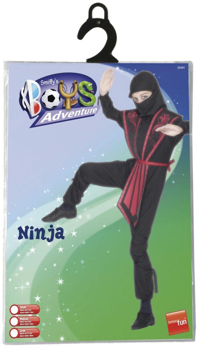 Zwarte ninja kostuum jongens