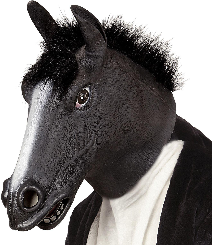 Zwarte paarden masker