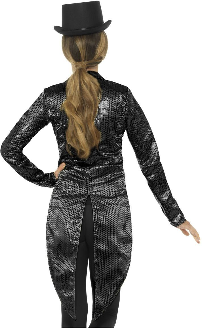 Zwarte pailletten jasje