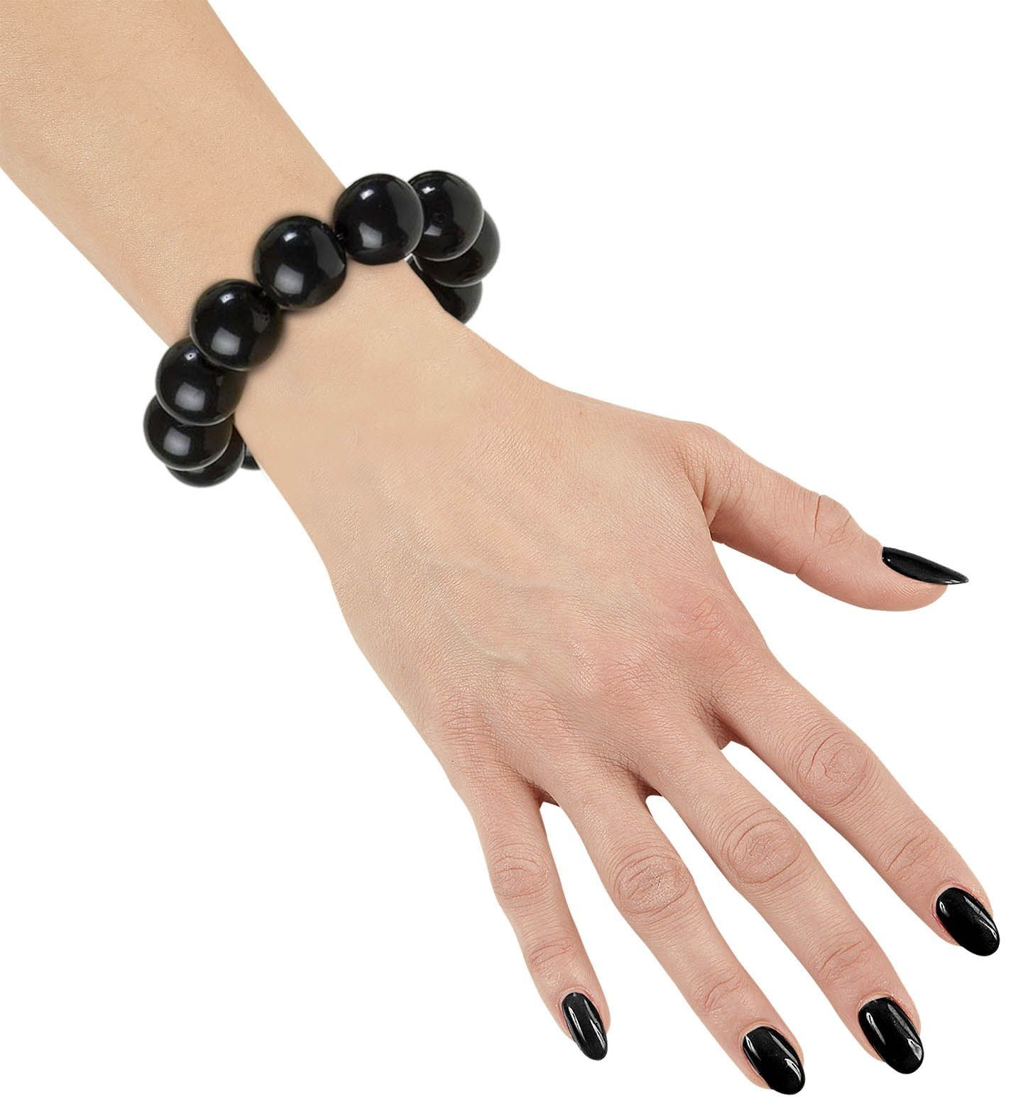 Zwarte parel armband jaren 50