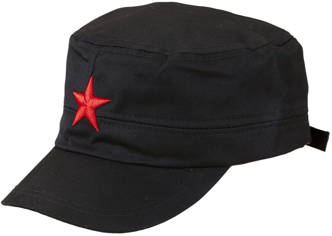 Zwarte pet met rode ster