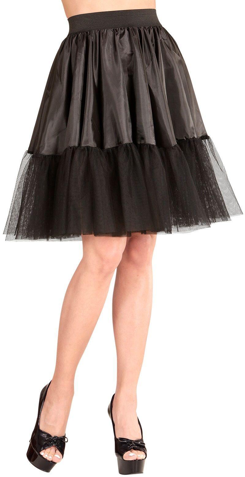 Zwarte petticoat dames