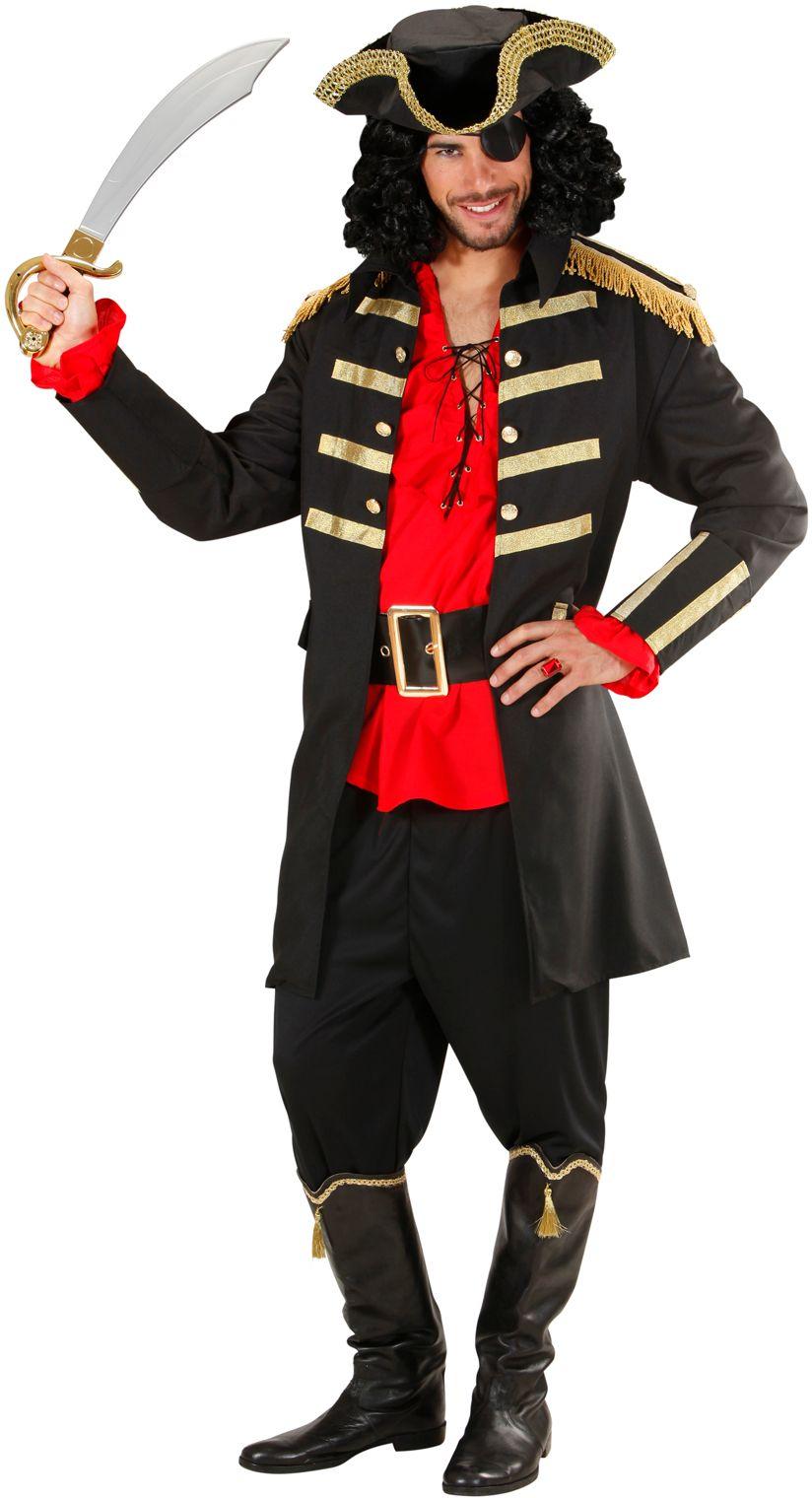 Zwarte piraat/kapitein kostuum